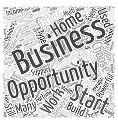 Work at home business opportunity mlm word cloud vector