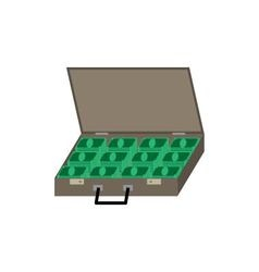 suitcase with the money vector image
