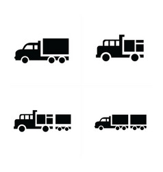Set truck and transport icons vector