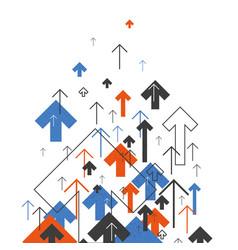 Abstract success concept growing arrows motion vector