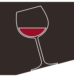 A glass of red wine vector