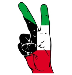 Peace Sign of the Kuwaiti flag vector image