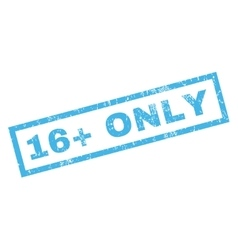 16 Plus Only Rubber Stamp vector image vector image