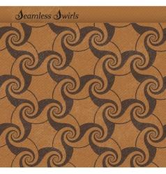 Seamless pattern with spirals swirls vector image