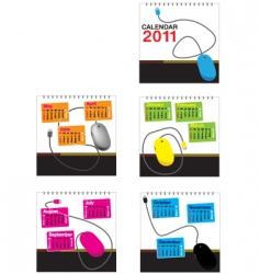 mouse calendar 2011 vector image