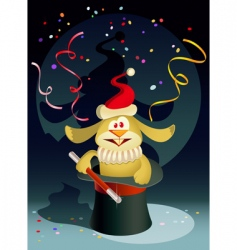 new year rabbit the magician vector image
