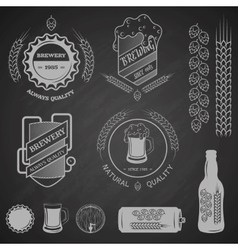 Brewing emblems and design elements vector