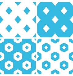 Diamonds patterns set vector