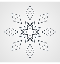 monochrome flower mandala on a contrasting vector image