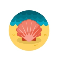 Seashell flat icon vector