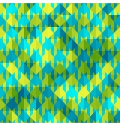 Hounds-tooth patterns in green and blue colors vector