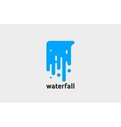 Waterfall logo water logo creative logo design vector