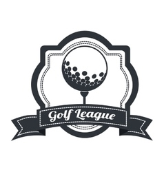Golf league design vector