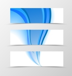 Set of banner blue smooth design vector