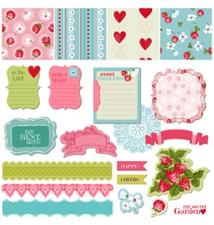 Scrapbook design elements - vintage flowers vector