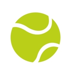 ball tennis white sport design icon vector image