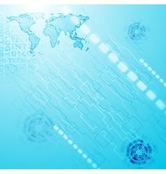 Blue technology style design vector
