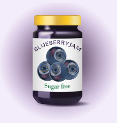 Blueberry jam blueberry confiture isolated jam vector