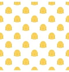 Buddha pattern cartoon style vector