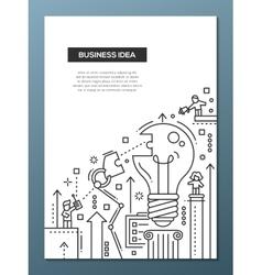 Business idea - line design brochure poster vector