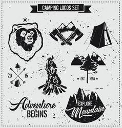 camping logo set vector image
