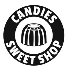 candies sweet shop logo simple black style vector image