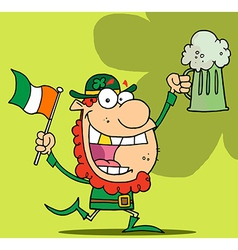 Cartoon leprechaun vector image vector image