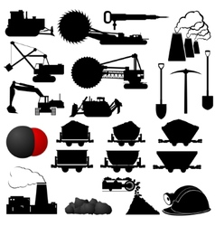 Coal industry vector image