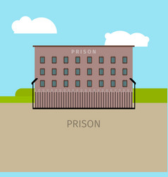 colored prison building vector image vector image