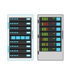 Computer server icon vector image