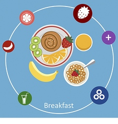 Concepts for breakfast time vector image vector image