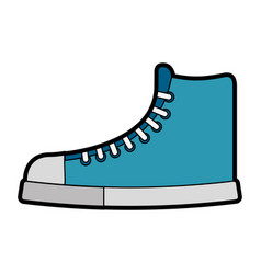 cute blue boot cartoon vector image vector image