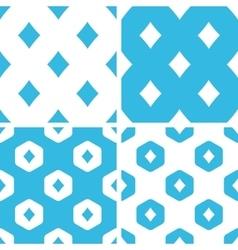 Diamonds patterns set vector image