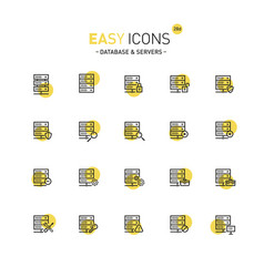 easy icons 28d database vector image