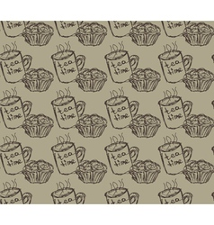 eat meal breakfast set seamless pattern vector image