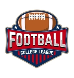 Football college league emblem template with vector