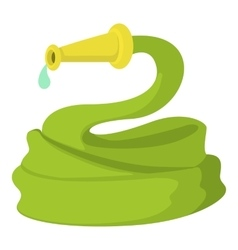 Garden hose icon cartoon style vector
