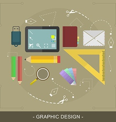 Graphic design flat concept editable for website vector