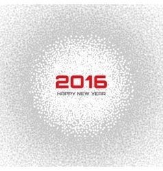 Gray - white light new year 2016 snow flake vector