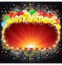 happy birthday background for your congratulations vector image vector image