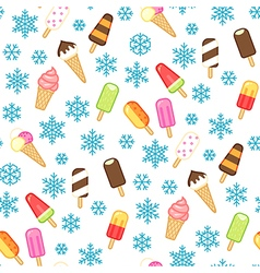 icecream pattern snow vector image