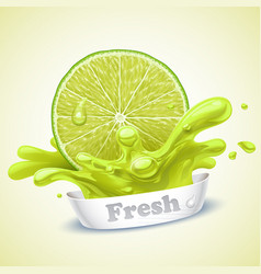 juicy lime vector image vector image