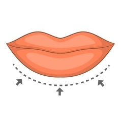 Lips surgery correction icon cartoon style vector