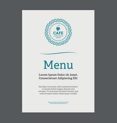menu page design vector image vector image