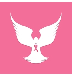 National breast cancer awareness month dove vector