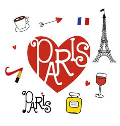 Paris style elements vector image