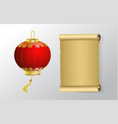 red chinese traditional paper lantern vector image vector image