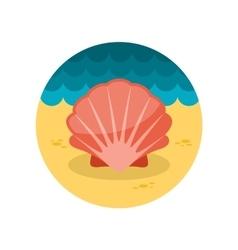Seashell flat icon vector image