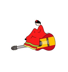 Spanish-Guitar-380x400 vector image