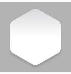 White paper sticker hexagon vector image